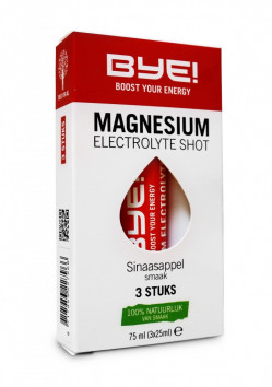 BYE Magnesium Electrolyte Shot - 3 x 25ml